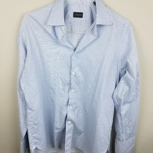 Ermenegildo Zegna Button Down Blue 41/16